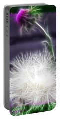 Portable Battery Charger featuring the photograph Thistle by EricaMaxine  Price
