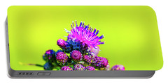 Portable Battery Charger featuring the photograph Thistle June 2016.  by Leif Sohlman