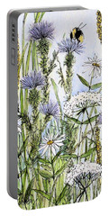 Thistles Daisies And Wildflowers Portable Battery Charger