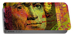 Portable Battery Charger featuring the digital art Thomas Jefferson - $2 Bill by Jean luc Comperat