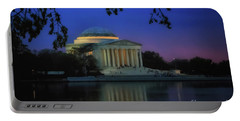 Thomas Jefferson Memorial Sunset Portable Battery Charger by Elizabeth Dow