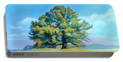 Thomas Jefferson's White Oak Tree On The Way To James Madison's For Afternoon Tea Portable Battery Charger by Catherine Twomey