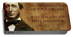 Thoreau Quote 1 Portable Battery Charger by Andrew Fare
