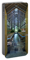 Portable Battery Charger featuring the photograph Thorncrown Chapel Entrance by Cricket Hackmann