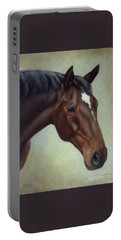 Thoroughbred Horse, Brown Bay Head Portrait Portable Battery Charger