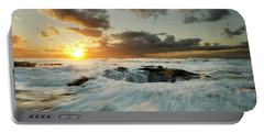 Portable Battery Charger featuring the photograph Thors Well Cape Perpetua 1 by Bob Christopher