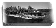 Thousand Islands In Black And White Portable Battery Charger