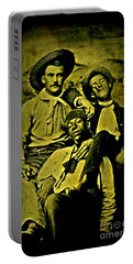 Portable Battery Charger featuring the photograph Three 1880s Midwestern Ruffians by Peter Gumaer Ogden