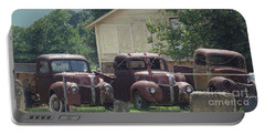 Portable Battery Charger featuring the photograph Three 1940 Ford Pickups by Janette Boyd