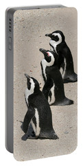 Three African Penguins Portable Battery Charger
