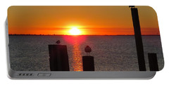 Three Birds In The Sunset Portable Battery Charger