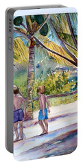Three Boys Climbing Portable Battery Charger