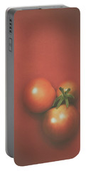 Three Cherry Tomatoes Portable Battery Charger by Scott Norris