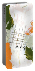 Portable Battery Charger featuring the painting Three Color Palette Orange 3 by Michal Mitak Mahgerefteh