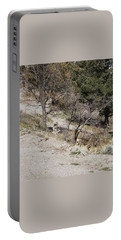Dry Mountain Slope With Three Deer Portable Battery Charger