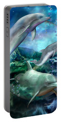 Three Dolphins Portable Battery Charger