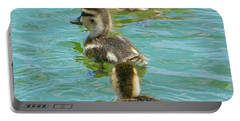 Three Ducklings Swimming Portable Battery Charger