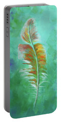 Three Feathers Triptych-left Panel Portable Battery Charger