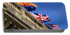 Three Flags At London Bridge Portable Battery Charger