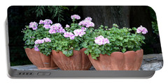 Three Flower Pots Portable Battery Charger by Deborah  Crew-Johnson