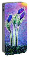 Three Flowers Portable Battery Charger