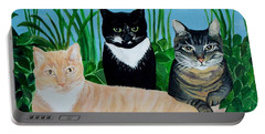 Three Furry Friends Portable Battery Charger