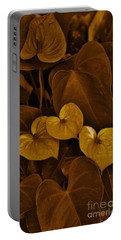 Portable Battery Charger featuring the photograph Three Hearts In Brown by Craig Wood