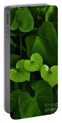 Portable Battery Charger featuring the photograph Three Hearts In Green by Craig Wood