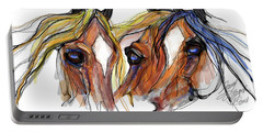 Three Horses Talking Portable Battery Charger