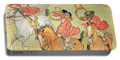 Three Jovial Huntsmen Portable Battery Charger by Randolph Caldecott