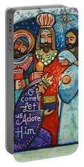 Three Kings O Come Let Us Adore Him Portable Battery Charger