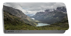 Three Lakes Viewed From Grinnell Glacier Portable Battery Charger