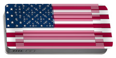 Three Layered Flag Portable Battery Charger by David Bridburg
