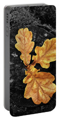 Three Leaves On Black Portable Battery Charger