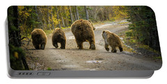 Three Little Bears And Mama Portable Battery Charger