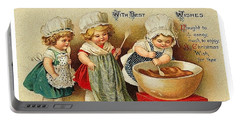 Three Little Christmas Cookers Portable Battery Charger