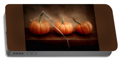 Three Little Pumpkins Portable Battery Charger by Louise Kumpf