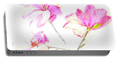 Three Magnolia Flowers Portable Battery Charger by Linde Townsend
