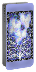 Portable Battery Charger featuring the painting Three Messengers by Lise Winne