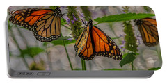 Three Monarch Butterfly Portable Battery Charger