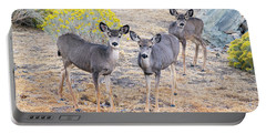 Portable Battery Charger featuring the photograph Three Mule Deer In High Desert by Frank Wilson