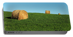 Three Old Bales Portable Battery Charger