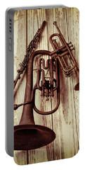 Three Old Horns Portable Battery Charger by Garry Gay