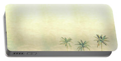 Three Palms In Color Portable Battery Charger