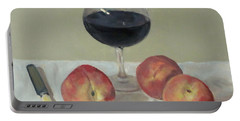 Three Peaches, Wine And Knife Portable Battery Charger