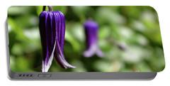 Three Purple Flowers- Leech Botanical Garden Portable Battery Charger