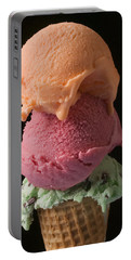 Three Scoops Of Ice Cream  Portable Battery Charger
