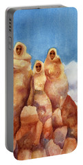 Three Sisters Of Ghost Ranch Portable Battery Charger