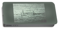 Portable Battery Charger featuring the photograph Three Swans by The Art Of Marilyn Ridoutt-Greene