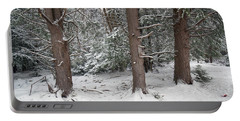 Three Trees In The Snow Portable Battery Charger